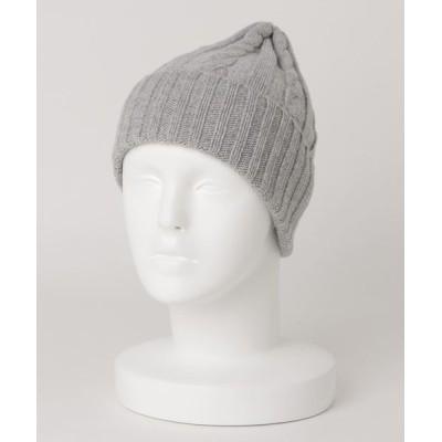 ABAHOUSE / ラムウール ケーブルニット帽 MEN 帽子 > ニットキャップ/ビーニー