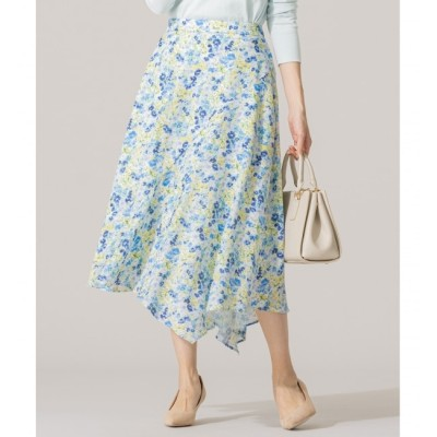 【クミキョク/組曲】 【洗える】マルチパターンプリント フレアスカート