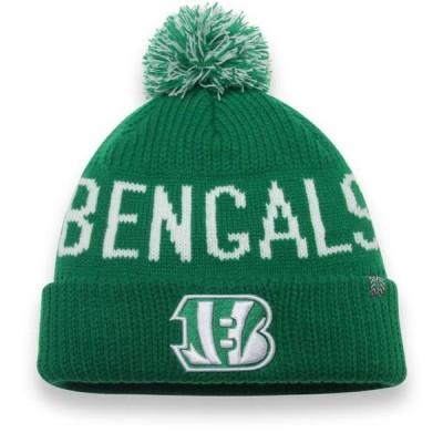 ユニセックス スポーツリーグ フットボール Cincinnati Bengals NFL Pro Line by Fanatics Branded St. Patrick's Day Cuffed Knit Hat wit