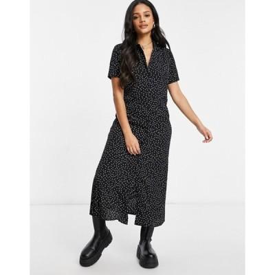 ミスガイデッド レディース ワンピース トップス Missguided midi shirt dress with button through detail in polka dot