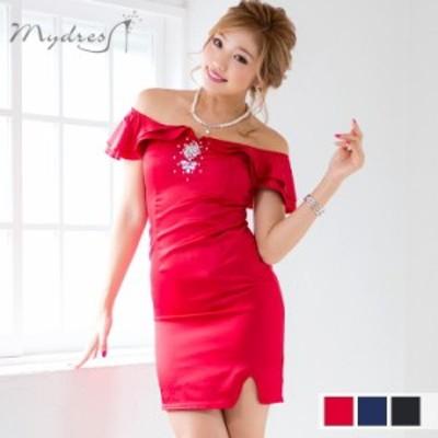 キャバ ドレス mydress ミニドレス ワンピース ワンピ 盛りドレス キャバドレス お呼ばれドレス パーティードレス タイト ミニ丈 パーテ