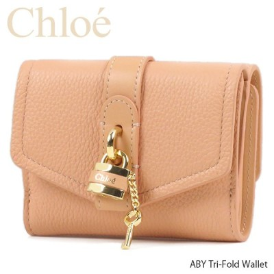 Chloe クロエ ABY Tri-Fold Wallet アビー ミニ財布 パドロック ロゴ 3つ折り財布 レディース C21SP311C 62-6I1