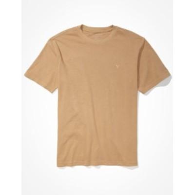 アメリカンイーグル メンズ Tシャツ トップス AE Super Soft Icon T-Shirt Khaki