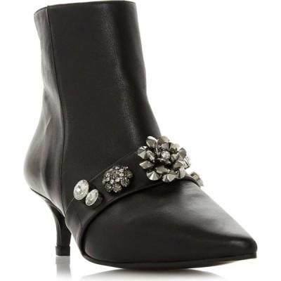 デューン Dune London レディース ブーツ キトゥンヒール シューズ・靴 onyxe embellished kitten heel boots Black