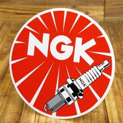 ステッカー 車 アメリカン バイク ヘルメット NGK ラウンド サイズL_SC-GA81-TMS