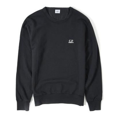 C.P.COMPANY シーピーカンパニー 2021年 春夏新作 Tシャツ 長袖 クルーネック 春夏 メンズ 綿100% コットン ロゴ ブラック