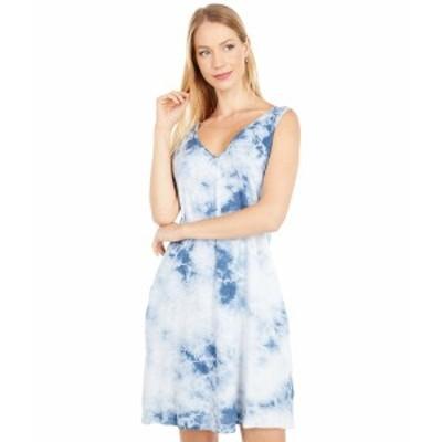 ファエティ レディース ワンピース トップス Georgia Dress Blue Tie-Dye