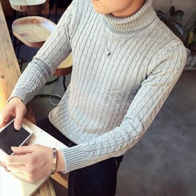 ニット メンズ セーター トレーナー ニットセーター ハイネック 無地 秋冬 暖かい おしゃれ 通勤 オフィス 全6色 M L XL 2XL 3XL