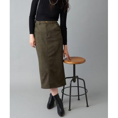 prose verse / 【S・Mサイズ展開】バックウエストゴム エコスエードナロースカート WOMEN スカート > スカート