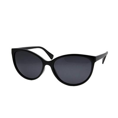 grinderPUNCH レディース 偏光キャットアイ サングラス Lentes De Sol US サイズ: L カラー: ブラック