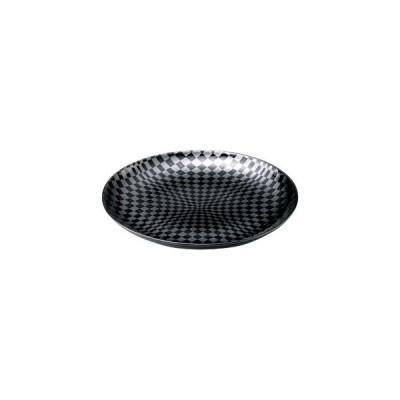 和食器黒市松 8.0皿/大きさ・25.2×3cm