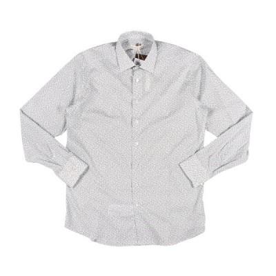 ETRO(エトロ) 長袖シャツ 12908 ホワイト x ネイビー 44 25065 【A25067】