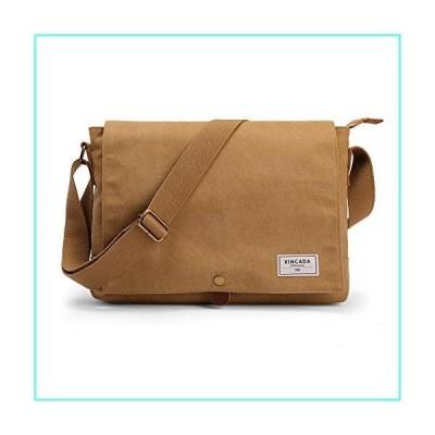 XINCADA Laptop Messenger Bag Canvas Shoulder Bag Vintage Crossbody Bags Satchel Computer Bags 14 Inch School Bookbag for Men並行輸入品