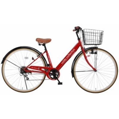 【完成品】 シティサイクル 自転車 本体 ママチャリ 27インチ シマノ製6段変速 VO-CTV-276LED
