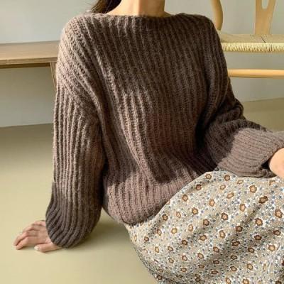 ENVYLOOK レディース ニット/セーター Lip Neck Knitwear Top