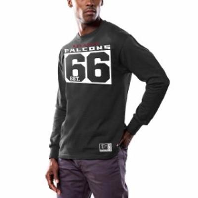 Majestic マジェスティック スポーツ用品  Majestic Atlanta Falcons Black Favorable Result Long Sleeve T-Shirt