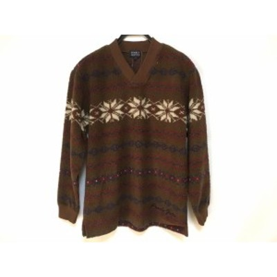 パーリーゲイツ PEARLY GATES 長袖セーター サイズ1 S メンズ 美品 ブラウン×アイボリー×マルチ【還元祭対象】【中古】20190906
