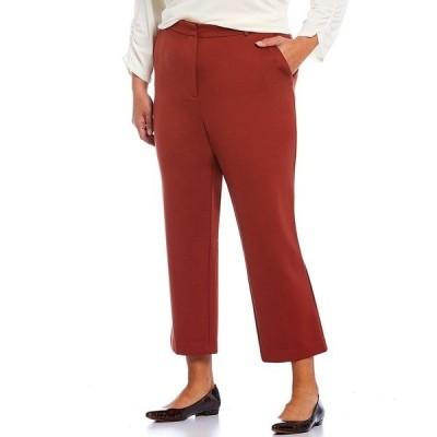 ルビーロード レディース カジュアルパンツ ボトムス Plus Size Stretch Ponte Straight Leg Ankle Pants Rust