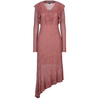 ジャストカヴァリ JUST CAVALLI 7分丈ワンピース・ドレス 赤茶色 S レーヨン 80% / ナイロン 10% / ポリエステル 10%