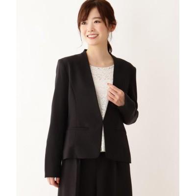 【シューラルー】 ダブルクロスVネックジャケット レディース ブラック 03(L) SHOO・LA・RUE