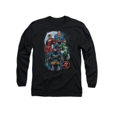 ユニセックス 衣類 トップス Justice League DC Comics The Four Adult Long Sleeve T-Shirt Tee Tシャツ