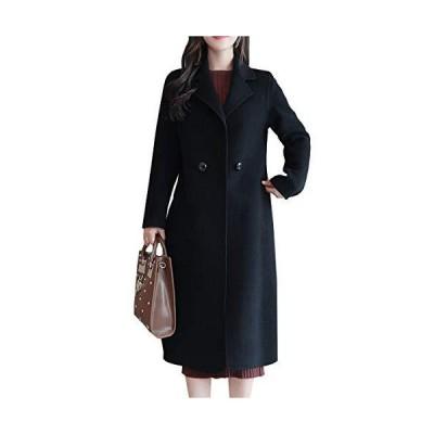 [スカイシイ] ロングコート コート シンプル ロング 防寒 韓国 シンプルコート おしゃれ おしゃれコート 韓国?