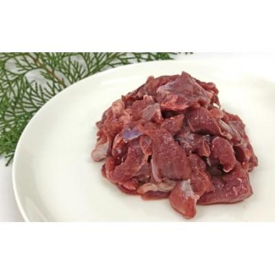 ワンちゃんのペットフード鹿肉小間切れ(冷凍100g×20パック) 犬 いぬ イヌ ジビエ 健康 エサ えさ 餌