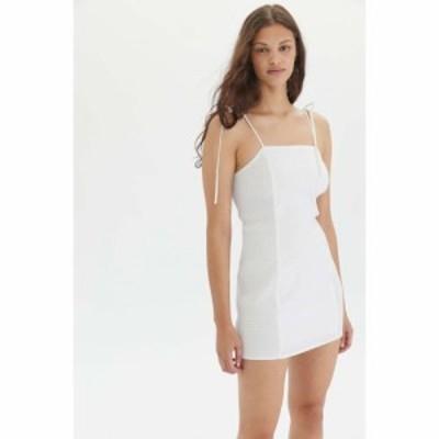 エギー Eggie レディース ワンピース ミニ丈 ワンピース・ドレス UO Exclusive Ava Side-Smocked Mini Dress White