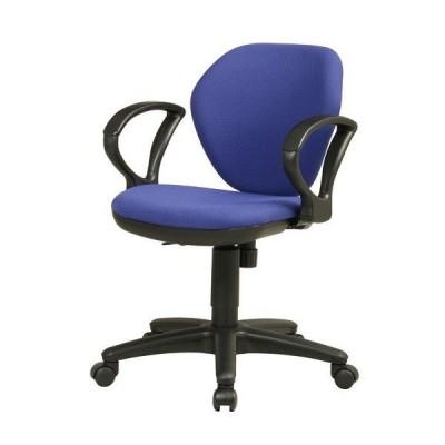 オフィスチェア 布張りチェア 固定肘付 事務用イス 回転イス 事務椅子 お客様組立 送料別 K-921 92AR