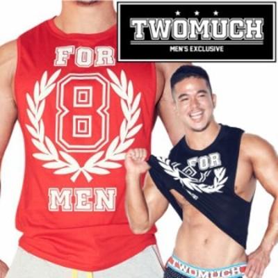 TWOMUCH トゥーマッチ ツーマッチ  おしゃれな タンクトップ メンズ スポーツ ジムウェア 4MEN TOP(tw-top006)
