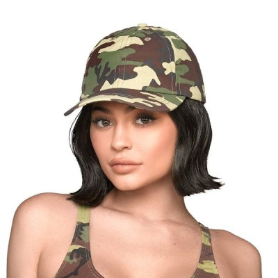 THE OFFICIAL KYLIE JENNER SHOP CAMO DAD HAT - GREEN