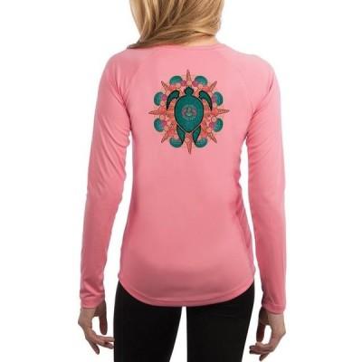 レディース 衣類 トップス SAND.SALT.SURF.SUN Turtle Shells Women's UPF 50+ Long Sleeve T-Shirt グラフィックティー