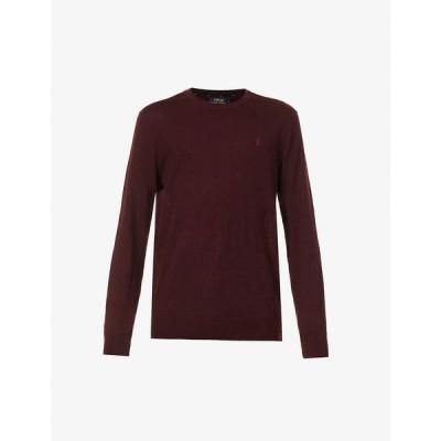 ラルフ ローレン POLO RALPH LAUREN メンズ ニット・セーター トップス Logo-embroidered wool jumper RED
