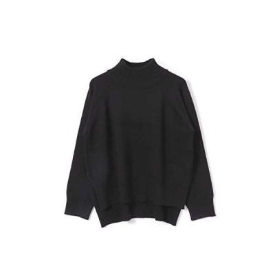 センスオブプレイス ニット セーター ストレッチハイネックルーズセーター レディース AA07-22A105 BLACK FREE