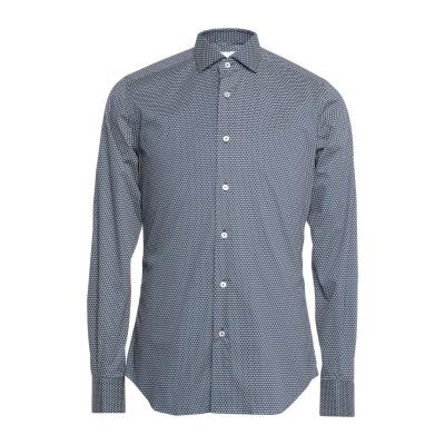 CELLINI シャツ ダークブルー 39 コットン 97% / ポリウレタン 3% シャツ