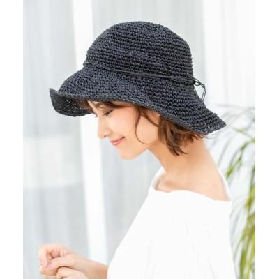 Edit Sheen / 細リボンナチュラルハット WOMEN 帽子 > ハット