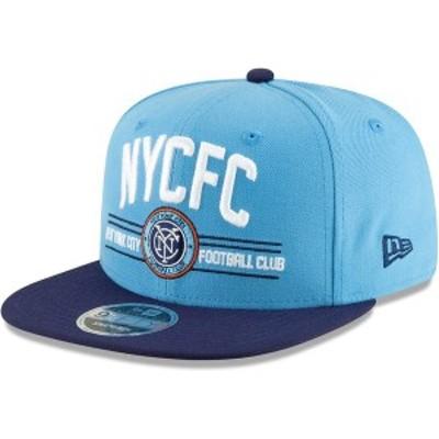ニューエラ メンズ 帽子 アクセサリー New York City FC New Era Satin Two-Tone 9FIFTY Snapback Adjustable Hat Sky Blue/Navy