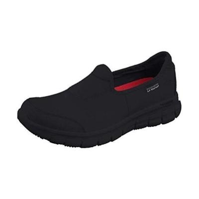 Skechers Work Women's Sure Track Slip Resistant Shoe, Black 7.5 W US