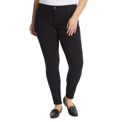 グロリアバンデービルト デニムパンツ ボトムス レディース Women's Plus Size Midrise Skinny Jeans Black