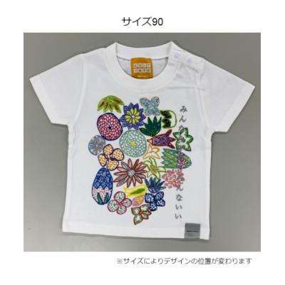 NIHONGO CREATION 花幕Tシャツ(こども) ホワイト 120