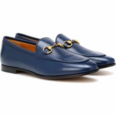 グッチ Gucci レディース ローファー・オックスフォード シューズ・靴 Jordaan leather loafers Blue Agata