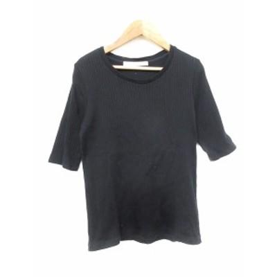 【中古】スピック&スパン Spick&Span Tシャツ カットソー 五分袖 紺 ネイビー /AAM レディース