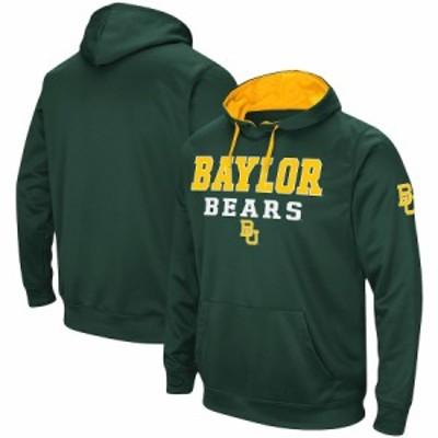 """メンズ フーディ """"Baylor Bears"""" Colosseum Omni Stack Raglan Pullover Hoodie - Green"""