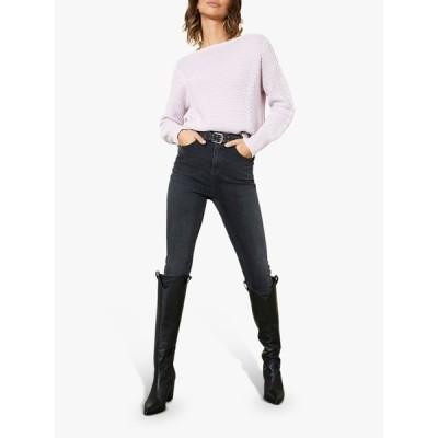 ミルトンベルベット ニット&セーター レディース アウター Mint Velvet Textured Knit Jumper, Lilac