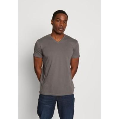 エスプリ メンズ Tシャツ トップス Basic T-shirt - dark grey dark grey