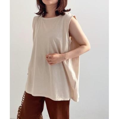tシャツ Tシャツ 汗ジミ防止ノースリーブカットソー&フレンチスリーブTシャツ