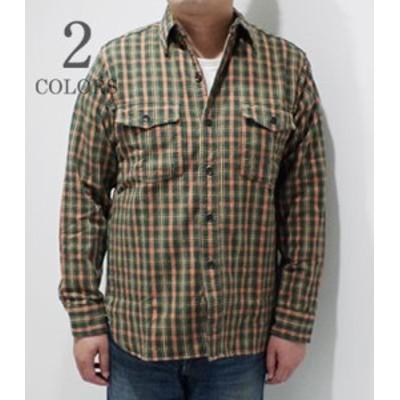 WAREHOUSE ウエアハウス 長袖 セルビッチフランネル ワークシャツ FLANNEL SHIRTS WITH CHINSTRAP 3022-19