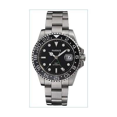 GMT Master Sapphire Glass Ceramic Bezel Black Dial Automatic Mechanical Men's Silver Watch並行輸入品