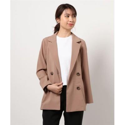 FREE'S MART / 【Sシリーズ対応】◇麻調合繊ダブルブレストジャケット WOMEN ジャケット/アウター > テーラードジャケット