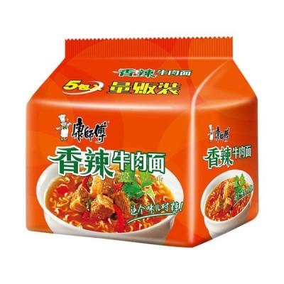 香辣牛肉面 方便面 インスタント麺 康?傅 ?典系列 香辣牛肉面 五?包 99g*5袋